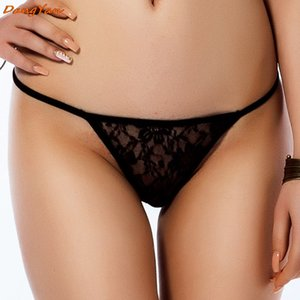 DangYan sexy G-string lace perspective erotic panties big size sexy underwear erotic lingerie plus size porn G-string