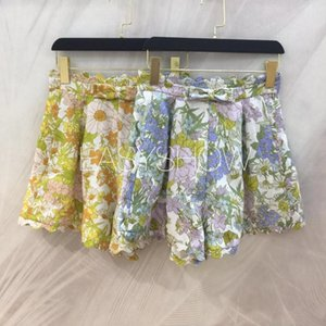DD076 Daisy yellow blue nifty shorts loose go with everything Idyllic style is suitable for traveling