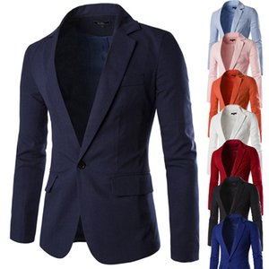 The designer Men's Costume For Wedding Men's Stylish Casual Solid Blazer Business Party Outwear Coat Suit Tops Jacket Mandarin Collar Suit