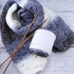 Boyalı Gökkuşağı Akrilik İplik Gradyan El Dokuma Örme Yün İplik Giyim için Eşarp Şapka Işçiliğinin Pamuk Konu Laine tricoter