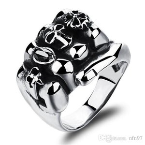 Fashion Stainless Steel Man Party Ring Personality Skeleton Design Metal Men's Friendship Punk Jewelry Gift