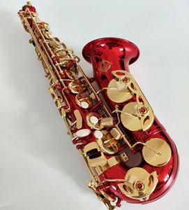 Suzuki Alto саксофон E flat alto саксофон музыкальные инструменты Red with Case. Тростник. Мундштук Бесплатная доставка