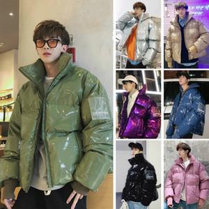 YASUGUOJI Moda soporte chaqueta corta de los hombres Collor brillante Thickjen calentamiento para hombre chaquetas de invierno y abrigos acolchados de algodón sueltos chaquetas
