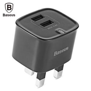 Nuovo Baseus Funzi Dual USB Caricatore da viaggio a parete intelligente Adattatore 2.4A Fast Charger UK Plug