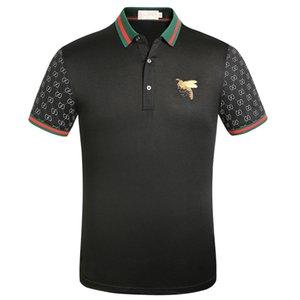wholesale, New Mens Summer Tees Luxury Mens Designer Polo T shirts Summer Short Sleeved Turn Down Collar Short Sleeved Tops Polo Shirts
