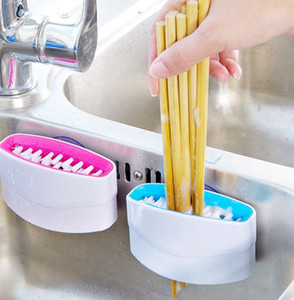 Knife Sponge Knife Cleaning Brush Chopsticks and Fork Cleaning Brush Melon Fruit Brush Scourer Household Cleaning Tools KKA7950