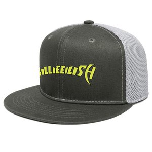 Billie eilish logo Unisex Flat Brim Trucker Cap Fitted Team Baseball Hats Eilish billie art-1 painting Logo Where's My Mind Bury A Don't