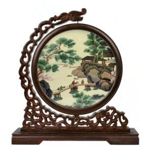 Китайский старинный декор подарочные предметы для украшения для дома ручная вышивка узоры шелковые работы с венге древесные рамки офисные украшения аксессуары