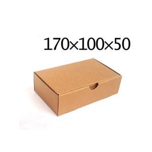 Leeres Kraftpapier Geschenkboxen Mailer Versandkasten Wellpappe Karton Hochzeit Geschenkpaket Weihnachten Party Favor Wrap Boxen