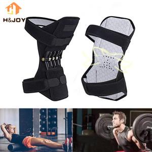 Совместная поддержка Knee Pad Leg Поддержка Brace Non-Slip Дышащие Lift Joint Усилие пружины Стабилизатор Спорт Колено Protector