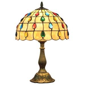 티파니 테이블 램프 E27 여섯 모델 잠자리 스타일의 침실 침대 옆 램프 크리 에이 티브 패션 레트로 테이블 라이트