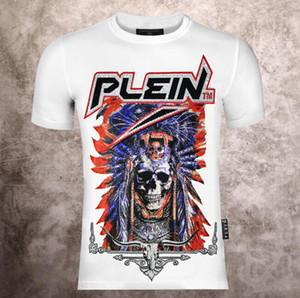 2019 Fashion Designer Marque P-P chaud forage Skulls T-shirt Vêtements pour hommes T-shirts pour hommes Hauts manches courtes T-shirt # 8055