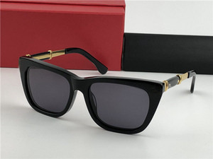 homens do desenhista de moda óculos de sol 0025 folha gato preto óculos de armação de moda populares novos óculos UV400 lente exterior óculos de proteção
