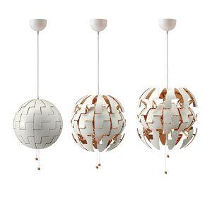 Nordic LED Globo blanco Luces colgantes Luminaria ajustable Dorado Salón Deco Lámpara colgante Esfera Lámpara colgante Accesorios transformables