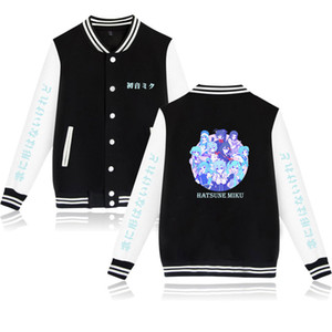 Wintet Mens Bomber Stakes 2020 Hatsune Miku Baseball Jacket Outterware Vocaloid Men Hoodies Sweights Cosplay Anime Clothing