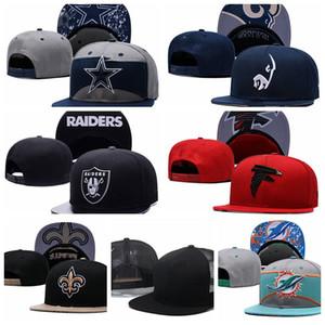 Barato de calidad superior de Miami Sombrero ajustable Dolphins Teams Logo snapback sombreros Gorros tejidos al aire libre sombreros de fútbol Gorra de fútbol Orden mixta