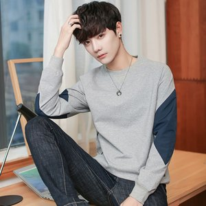 Men 2019t shirt round neck long-sleeved sweater Korean version of the trend in spring and autumn wild bottoming shirt men's clothes
