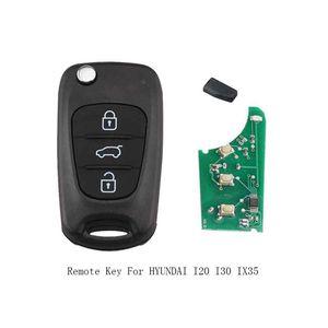 3 Botões Chave 433MHz ID46 chips remoto Key Fob aleta para HYUNDAI i20 i30 ix35 completa remoto Key TOY40 Lâmina