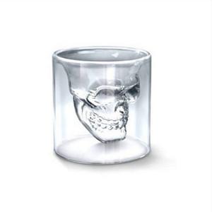 4 Размеры головки черепа вино стекла Кружка пива Кристалл Виски выстрел Двойной прозрачный стеклянный стакан водки питьевой Бар Клуб Пиво Вино Стеклянная бутылка