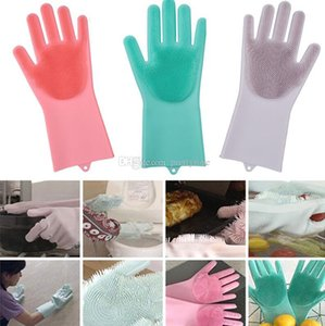 Resuable Magic Silicone Cleaning Gloves Silicon Dusting Dish Washing Gloves Kitchen Cleaning Tableware Washing-up Gloves Dish Washing DHL