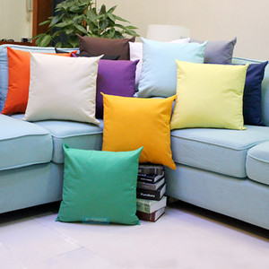 50pcs All Sizes Plain Dyed 8 oz Cotton Canvas Throw Pillow Case Solid Colors Blank Home Decor Pillow Cover More Than 100 Colors In Stock