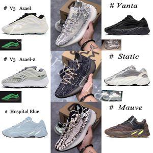 2020 380 700 Alien Azael Carbon Blue Wave Runner Mens Women Running Shoes Kanye West 380 3M riflettenti addestratori di sport scarpe da tennis Taglia 36-46