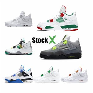 Latest 4 Denim White Rainbow Mens Basketball Shoes High Quality 4S Jeans Multicolor Mens Sports Designer Sneakers With Box #259