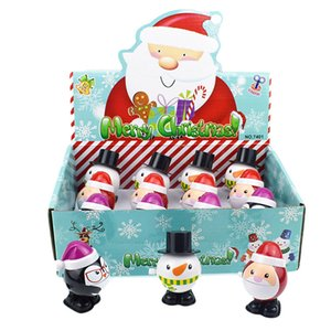 Novelty Funny of Spring-Winding Jumping Zhang Mouth Snowman Penguin Santa Claus Christmas Gift Toy