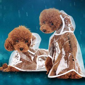 New Útil Waterproof Brasão Umbrella Chuva New Limpar Jacket Pet Puppy Dog Clothes Rainwear