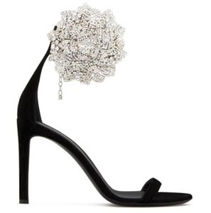 style classique Printemps été Lidies Sandales à talons Diamond Stiletto fleurs sandales haut talon femmes sandales de mariage de fête