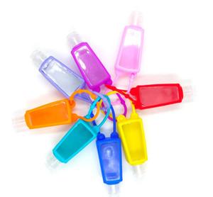 2020 neue 30ml Tragbarer Reisen nachfüllbare Flasche Silikon Hand Sanitizer Parfüm-Halter Mini nette leere Flasche Badewanne