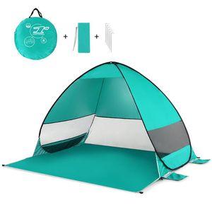 Oudoor Ultraleve Camping Tent automática Up Tent Windproof impermeável para Praia Camping Pesca Caminhadas Canopy Sun Shelter