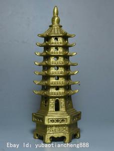 중국 불교 사원 황동 구리 wenchang 파고다 stupa 타워 동상