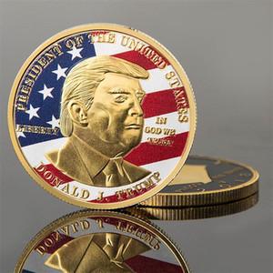Colorful Donald Trump American Eagle Commemoration Coin Family Decoration Collect Metal Historical Memorabilia Coins Emboss Collection