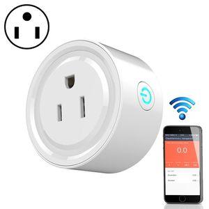 Smart Wifi Socket Commutateur Round US Plug télécommande Prise de sortie Histogramme Commutateur pour Smartphone Domotique