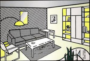 Roy Lichtenstein Ref alta qualità dipinta a mano HD Stampa moderna Pop Art pittura a olio Wall Art Home Decor su tela ry24