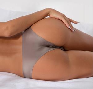 원활한 섹시한 팬티 여성 낮은 허리 코튼 끈 팬티 팬티 탱탱 편안한 솔리드 T 문자열 요가 반바지 팬티 플러스 크기