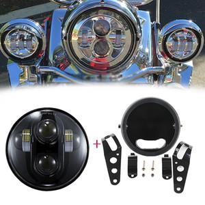 """5,75 """"светодиодная прожекторная фара с кольцом для крепления на дом для мотоцикла Custom Chopper Bobber Cafe racer"""