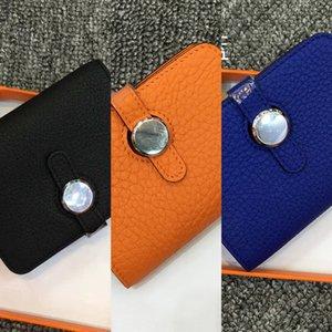 Women's coin purse leather small short coin bag cowhide Card drawstring mini wallet wallet card bag