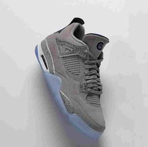 4s Georgetown PE Blue Grey Player Edition TOP Factory Version 4 Баскетбольные кроссовки мужские кроссовки 2019 замшевые кроссовки с коробкой