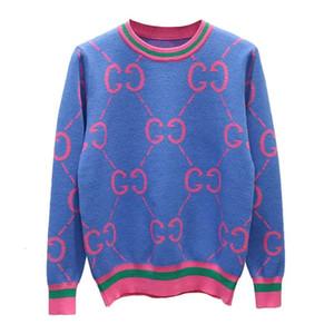 Winter Warm Sweaters Letter Vintage Womens Knitwear Pullovers Womens Cute Pink Sweaters Elegant Knit Sweater Pull FemmeMX190928