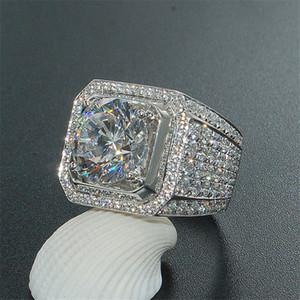 남성용 다이아몬드 디자이너 섬세한은 반지 힙합 스타일 반지와 고급 남성 반지