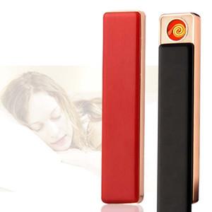Металл USB зарядка Зажигалки Тонкий портативный мини аккумуляторная Зажигалки USB зажигалок Мужчины Женщины ветрозащитный Smoking Зажигалка BH3005 такой анкеты