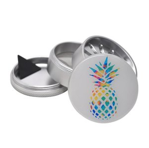 Cross-border hot-selling pineapple pattern grinder 63mm four-layer grinder drip plastic mapping unique teeth