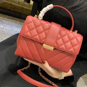 New Fashion Designer Women Handbag Chain CrossBody Handbags Small Shoulder Bags Genuine Leather Diamond Lattice V shape Bag Tote Purse