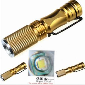 Taşınabilir küçük açık CREE XPE Q5 LED Su geçirmez alüminyum alaşım taktik Zoomable Troch Lambası 3 modu yanıp sönen ışıklar feneri
