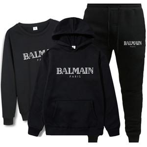 BALMAIN T-shirt das mulheres dos homens roupa ocasional material elástico Roupa Natural Silk clássico Bruce Lee gola alta manga comprida para 3 Pieces