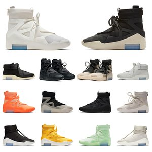 Nike Air Fear Of God X 1 Basketball Shoes String The Question Sail Black STOCK X zapatos de baloncesto Frosted Spruce Hombres Mujeres Zapatillas de deporte Zapatillas de deporte