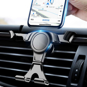 Soporte del teléfono celular de montaje en el coche de la gravedad En el soporte del clip de ventilación de aire del coche No Soporte del teléfono móvil magnético Soportes de la célula Soportes Soportes para teléfonos inteligentes