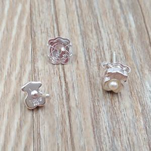 Ours bijoux 925 boucles d'oreilles en argent sterling Pendientes Super Power De Plata Con Perla Fits Bijoux de style européen cadeau 812403540
